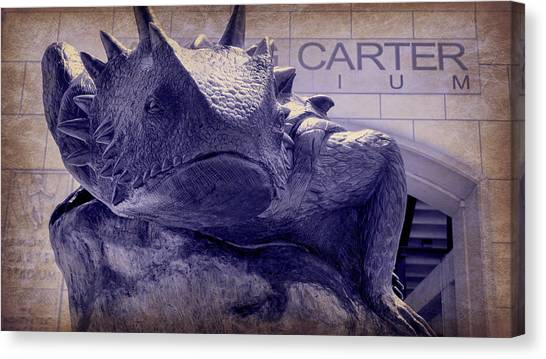 Texas Christian University Canvas Print - Fear The Frog - Tcu 6 by Stephen Stookey
