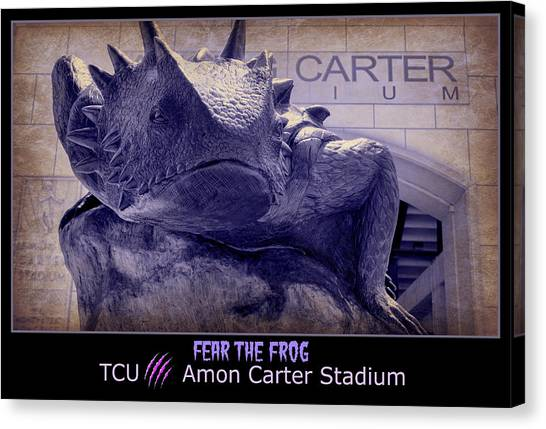 Texas Christian University Canvas Print - Fear The Frog - Tcu Poster by Stephen Stookey