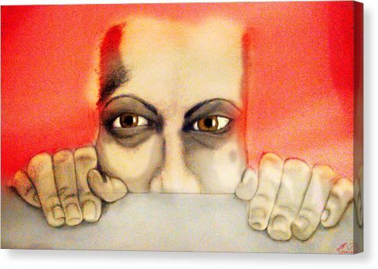 Fear Canvas Print by Yvonne Lopez