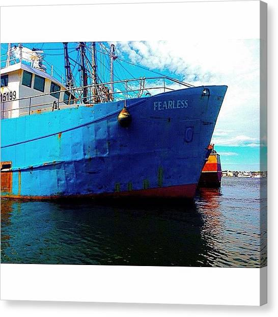 Fishing Boats Canvas Print - Fearless by Kate Arsenault