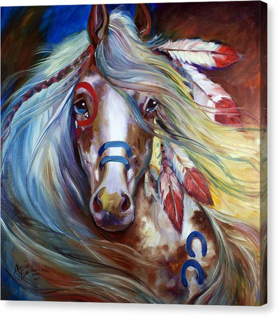 Fearless Indian War Horse Canvas Print