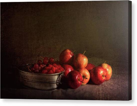 Raspberry Canvas Print - Feast Of Fruits by Tom Mc Nemar