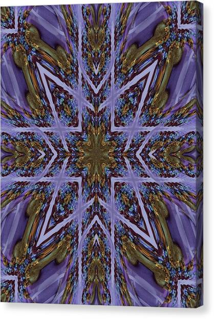 Feather Cross Canvas Print by Ricky Kendall