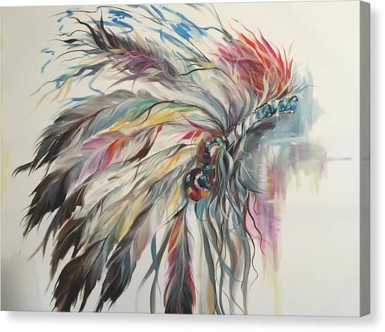 Feather Hawk Canvas Print