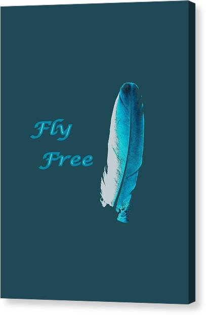 Feather Of Free Flight Canvas Print