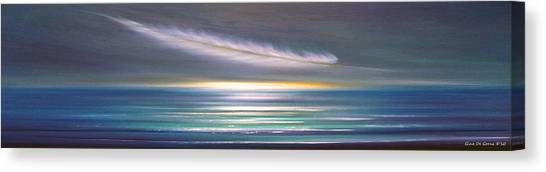 Feather Panoramic Sunset Canvas Print