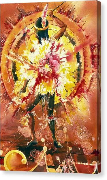 Feather Spirit Dancer Canvas Print