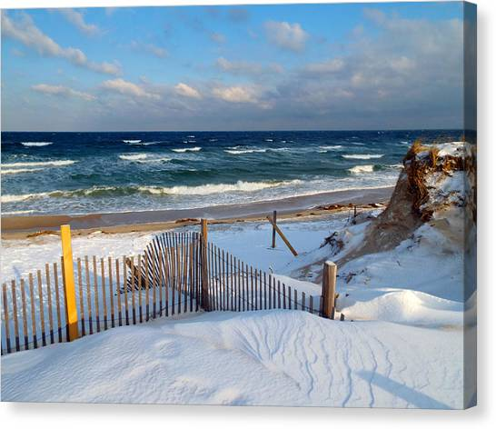 Cold Storage Beach Canvas Print - February Delight by Dianne Cowen & Cold Storage Beach Canvas Prints | Fine Art America
