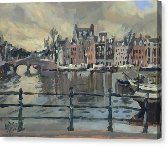 February Morning Along The Amstel Canvas Print