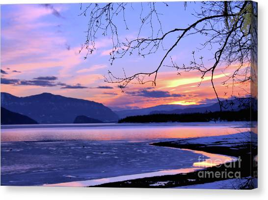 February Sunset 2 Canvas Print