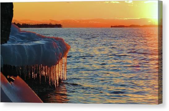 Feburary Sunset Cape Vincent Canvas Print