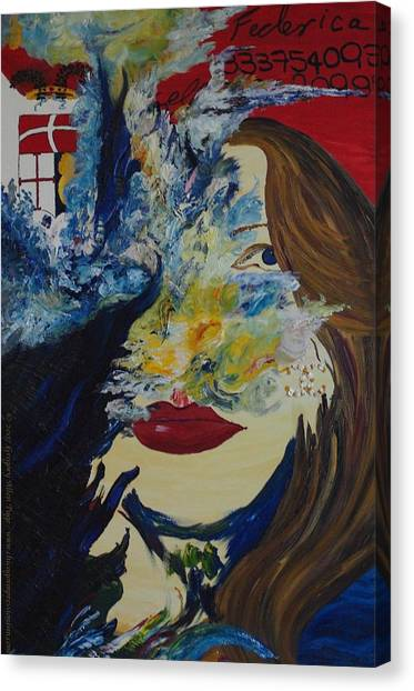 Fede The Como Girl Canvas Print by Gregory Allen Page