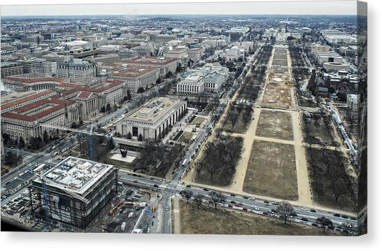Federal Triangle And Mall Canvas Print
