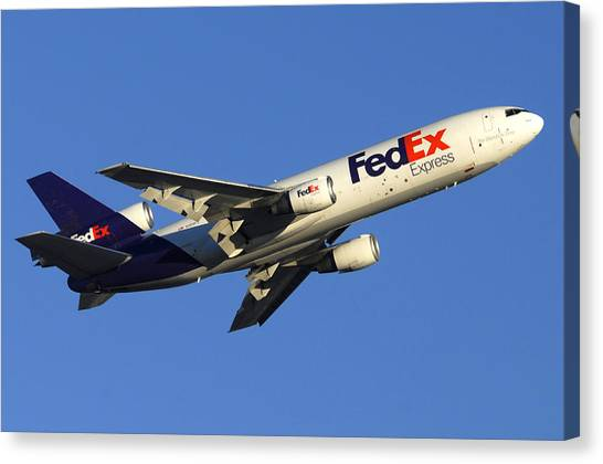 Fedex Mcdonnell-douglas Md-10-10f N366fe Phoenix Sky Harbor December 23 2010 Canvas Print