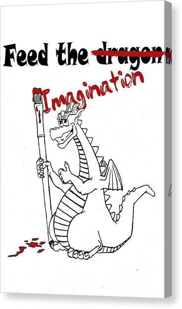 Feed The Imagination Canvas Print