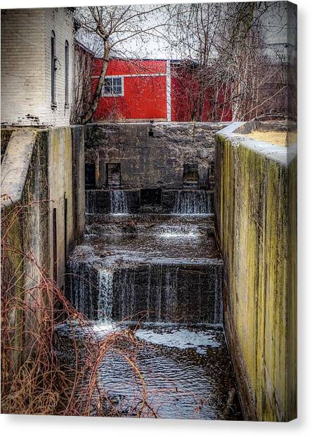 Feeder Canal Lock 13 Canvas Print
