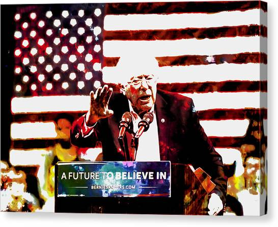 Ted Cruz Canvas Print - Feel The Bern 2 by Brian Reaves