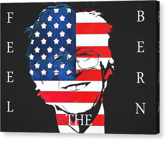 Bernie Sanders Canvas Print - Feel The Bern by Dan Sproul