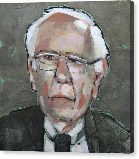 Bernie Sanders Canvas Print - Feel The Bern by Mary Medrano
