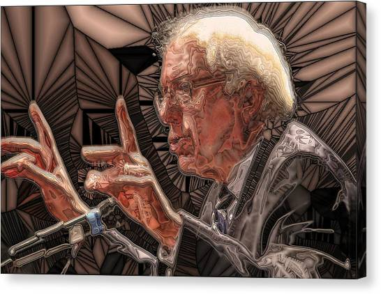 Bernie Sanders Canvas Print - Feel The Bern by Ron Bissett