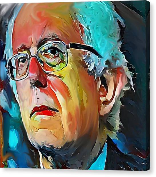 Bernie Sanders Canvas Print - Feel The Bern by Russell Pierce