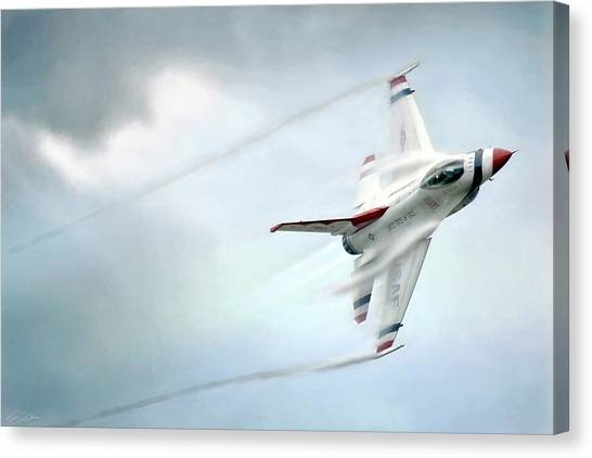 F16 Canvas Print - Feel The Thunder by Peter Chilelli