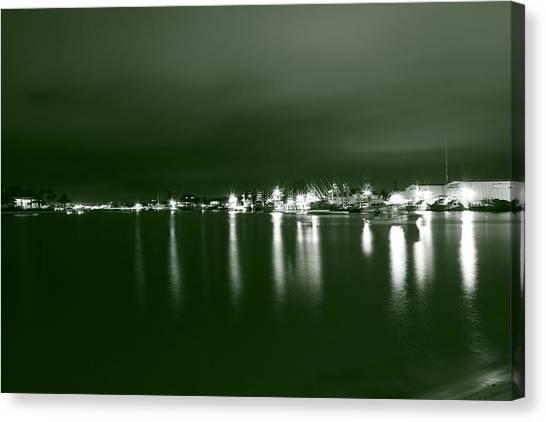 Feelin Green On The Seas Canvas Print by Bradley Nichol