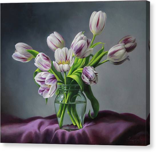 Tulips Canvas Print - Feelings by Pieter Wagemans