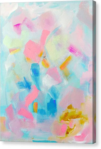 Abstract Art Canvas Print - Feels Like My Birthday by Jazmin Angeles