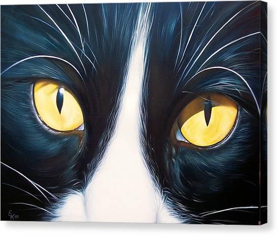Feline Face 2 Canvas Print