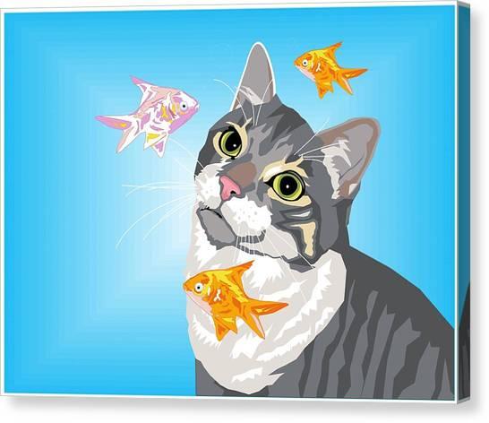Feline Fantasy Canvas Print by Sarah Crumpler