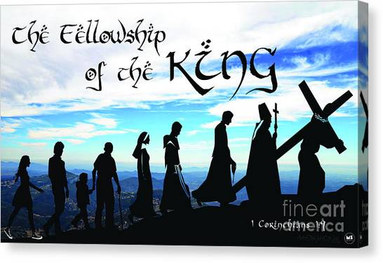 Fellowship Of The King Canvas Print