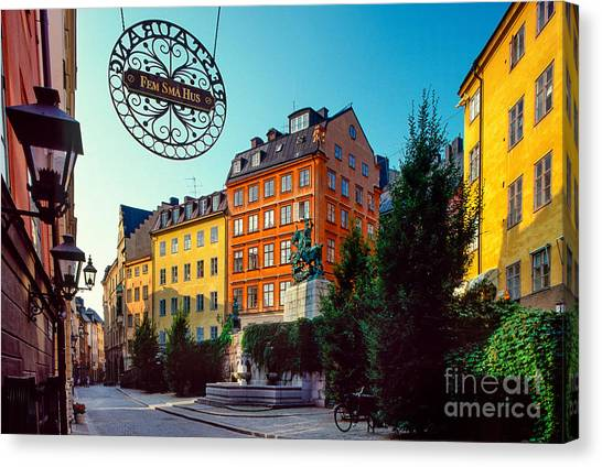 Europa Canvas Print - Fem Sma Hus by Inge Johnsson