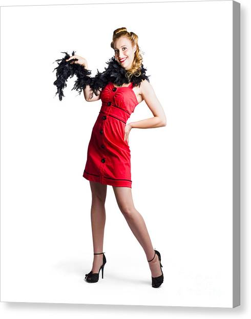Boa Constrictors Canvas Print - Female Cabaret Performer by Jorgo Photography - Wall Art Gallery