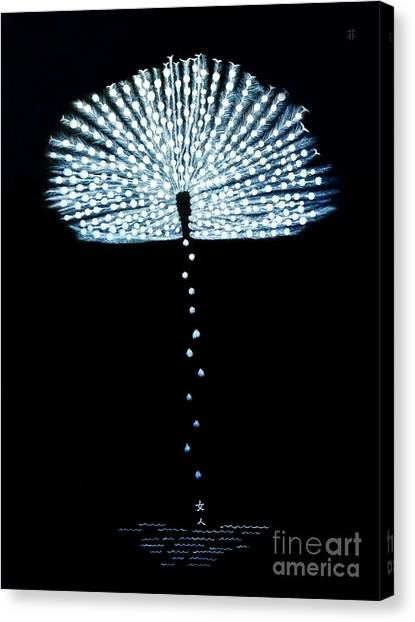 Female Feather Canvas Print