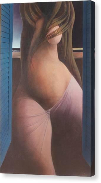 Femme Aux Volets Canvas Print by James LeGros