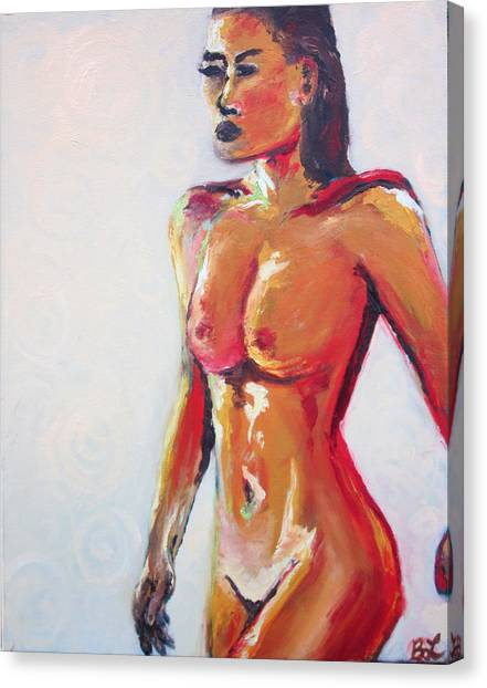 Femme Fatale Canvas Print by Britta Loucas