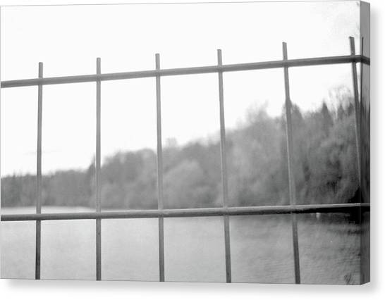 Fence Against Nature Canvas Print