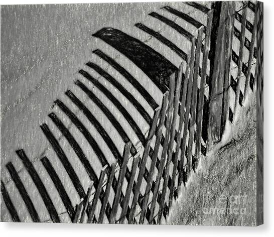 Fenced Canvas Print by Elijah Knight