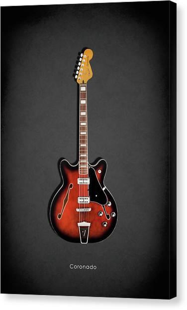 Fender Guitars Canvas Print - Fender Coronado by Mark Rogan