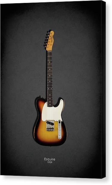 Fender Guitars Canvas Print - Fender Esquire 59 by Mark Rogan