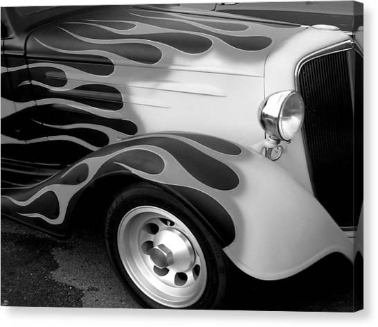 Canvas Print - Fender Flames by Audrey Venute