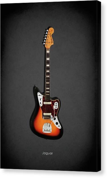 Fender Guitars Canvas Print - Fender Jaguar 67 by Mark Rogan