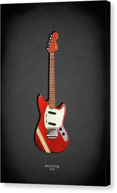 Stratocasters Canvas Print - Fender Mustang 70 by Mark Rogan