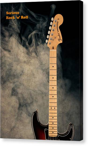 Stratocasters Canvas Print - Fender - Serious Rock N Roll by Mark Rogan