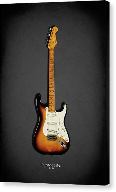 Music Canvas Print - Fender Stratocaster 54 by Mark Rogan