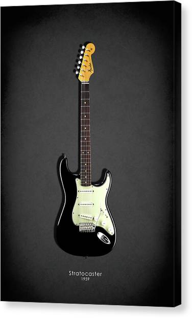 Bass Guitars Canvas Print - Fender Stratocaster 59 by Mark Rogan