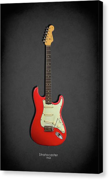 Stratocasters Canvas Print - Fender Stratocaster 63 by Mark Rogan