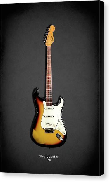 Fender Guitars Canvas Print - Fender Stratocaster 65 by Mark Rogan