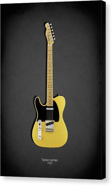 Bass Guitars Canvas Print - Fender Telecaster 52 by Mark Rogan